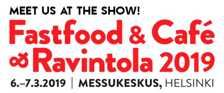 Tule tapaamaan meitä FastFood & Café & Ravintola -messuille Helsinkiin!